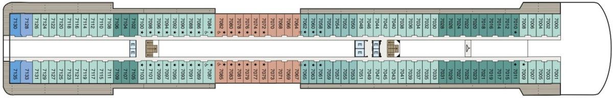 Oceania Cruises O-Class deck plans - Deck 7