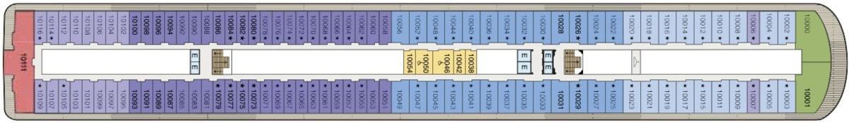 Oceania Cruises O-Class deck plans - Deck 10