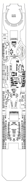 Celebrity Cruises Solstice Class deck plans - Deck 4