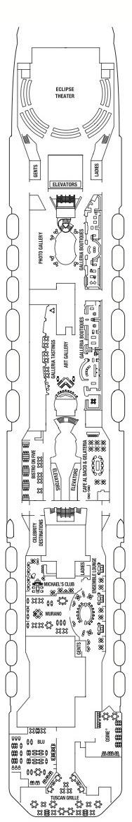 Celebrity Cruises Solstice Class deck plans - Deck 5