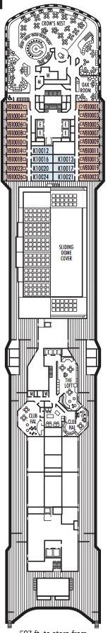 Holland America Line - MS Noordam & Zuiderdam deck plans - Deck 10