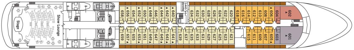 Silversea - Silver Shadow & Whisper deck plans - Deck 6