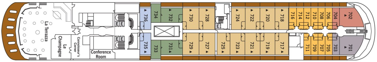 Silversea - Silver Shadow & Whisper deck plans - Deck 7