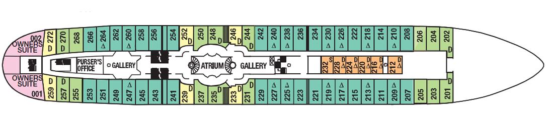 Royal Clipper deck plans - Commodore Deck