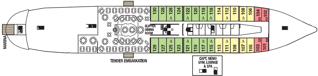 Royal Clipper deck plans - Clipper Deck