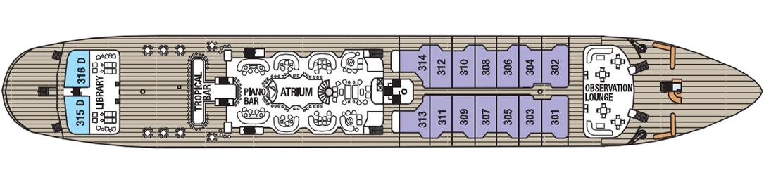 Royal Clipper deck plans - Main Deck