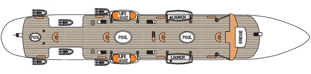 Royal Clipper deck plans - Sun Deck