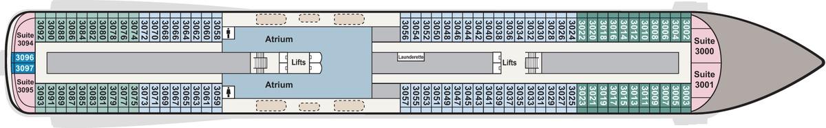 Viking Star, Sky & Sea deck plans - Deck 3