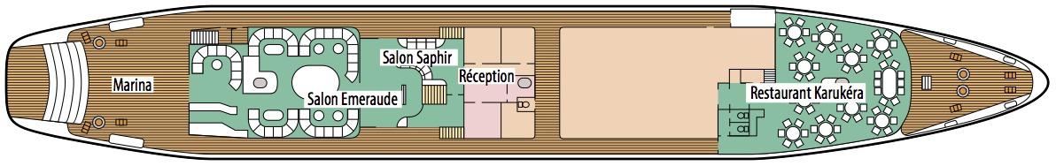 Le Ponant deck plans - Saint-Barth Deck