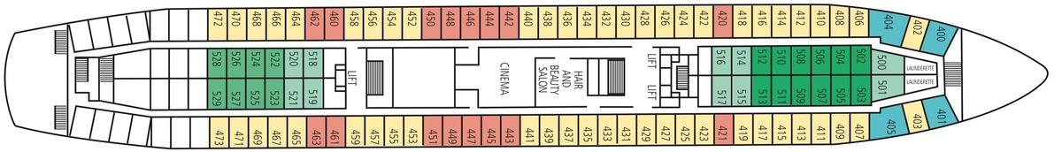 Saga Pearl II deck plans - B Deck