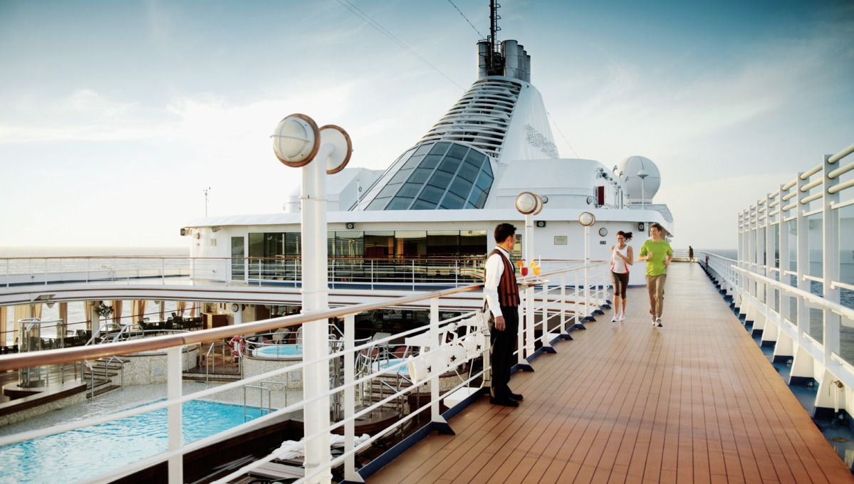 Silversea Cruises - Silver Spirit jogging track
