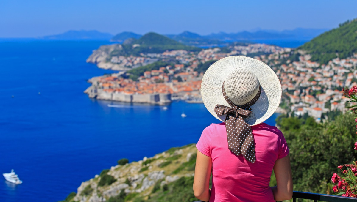 Solo cruise traveller in Dubrovnik, Croatia