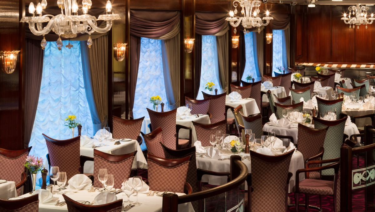 Holland America Line cruises - MS Prinsendam La Fontaine restaurant