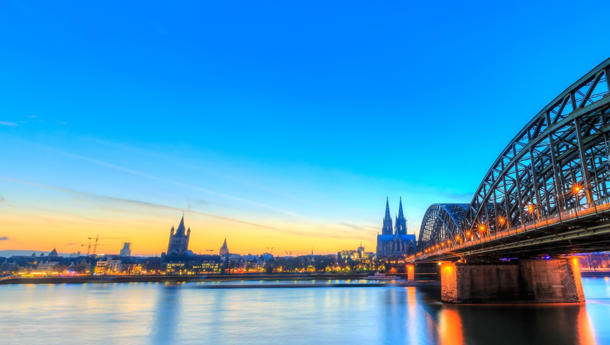 European river cruising - Bridge over the Rhine in Cologne, Germany