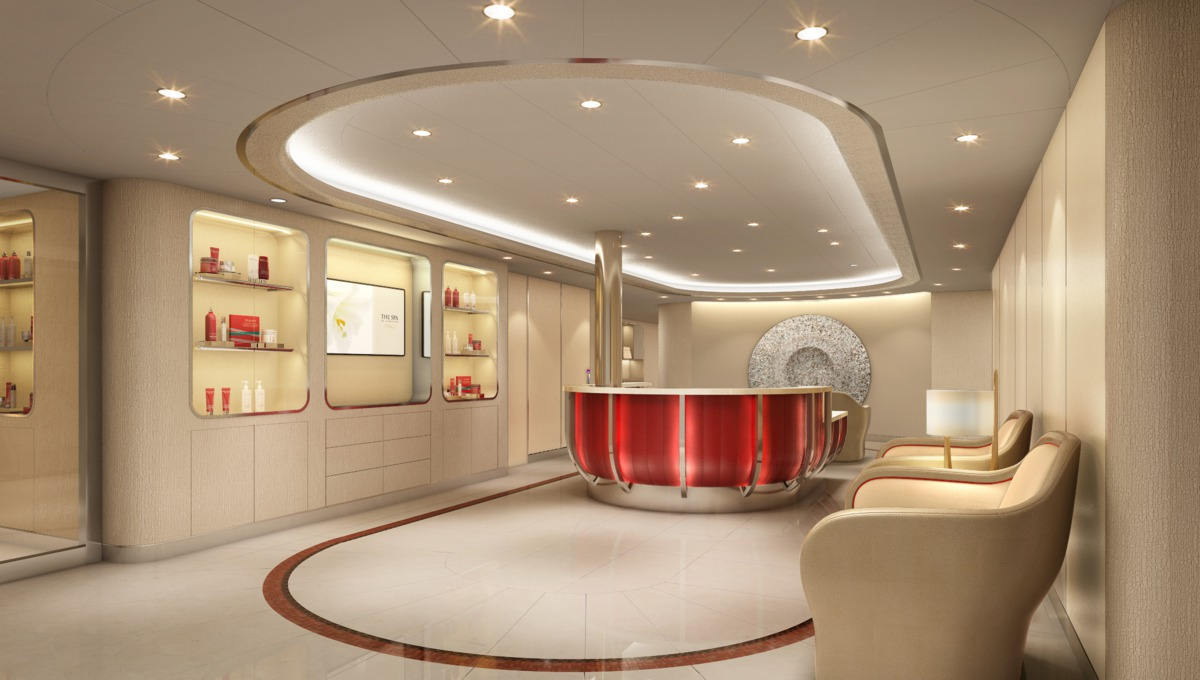 Seabourn Cruises - Seabourn Encore spa lobby design