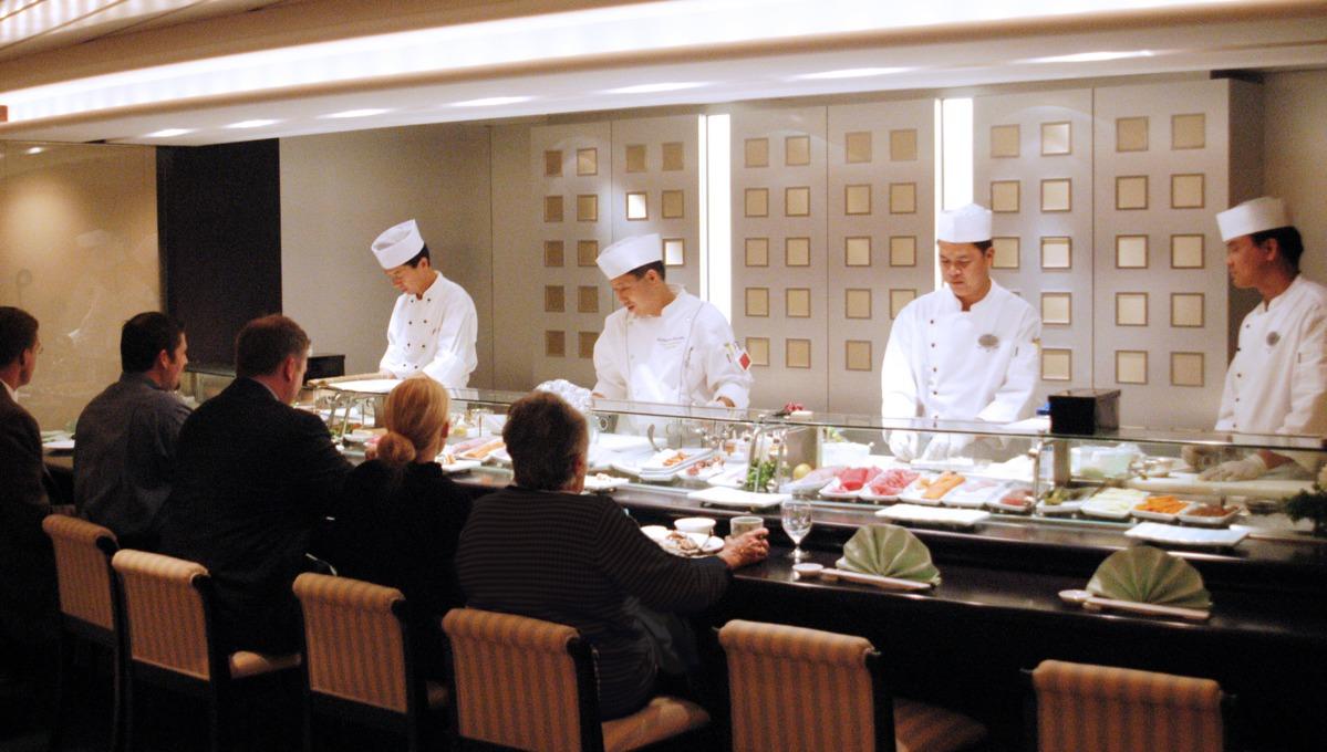 Crystal Serenity review: Sushi bar serving cuisine by Nobu Matsuhisa