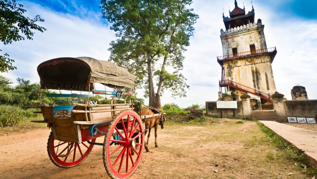 Namyin watchtower, Mandalay - A Burma river cruising destination