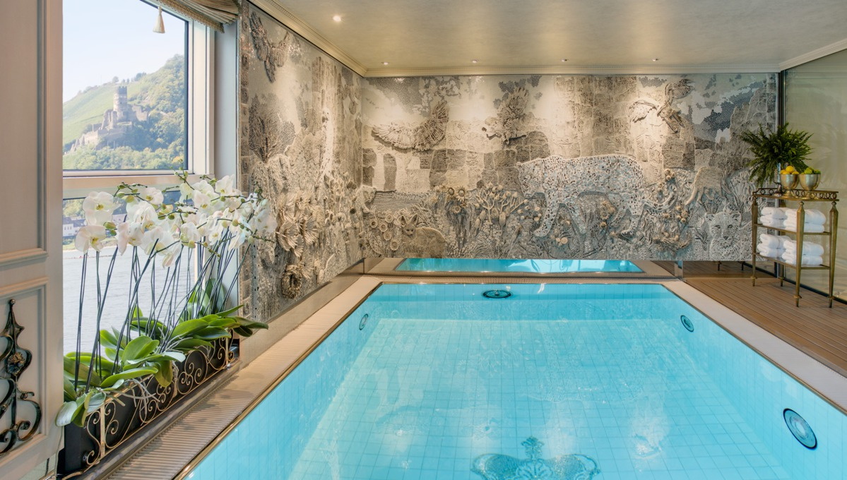 Uniworld River Cruises - SS Maria Theresa Leopard Lounge pool