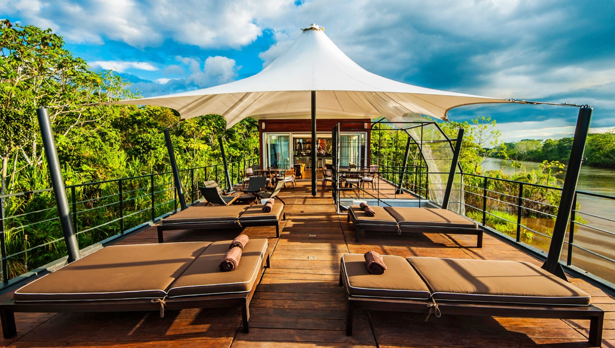 Aqua Expeditions - Aria Amazon outdoor lounge