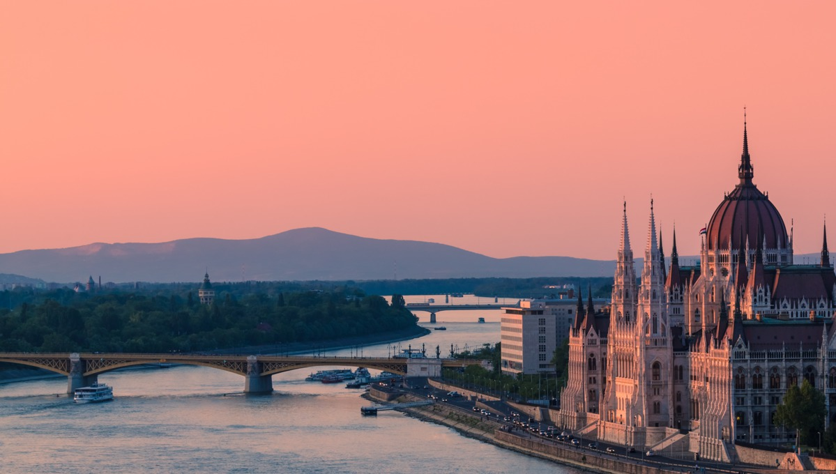 Luxury Danube river cruises - Sunset over Budapest