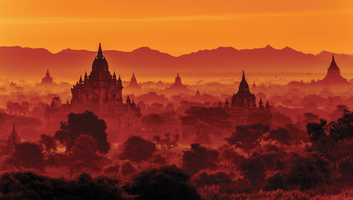 Far East cruises - Sunset over Bagan, Myanmar