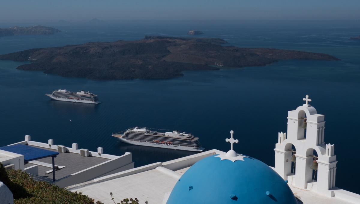 Viking Ocean Cruises in Santorini