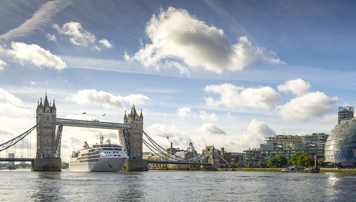 The latest Silversea news, including the refurbishment of Silver Wind, seen here in London