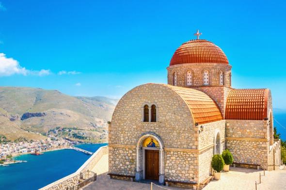 Agios Savvas monastery on Kalymnos, Greece
