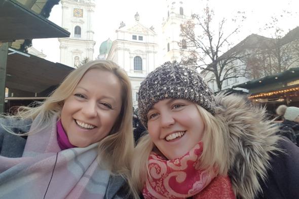 Hayley and Malinda on their Uniworld Christmas river cruise