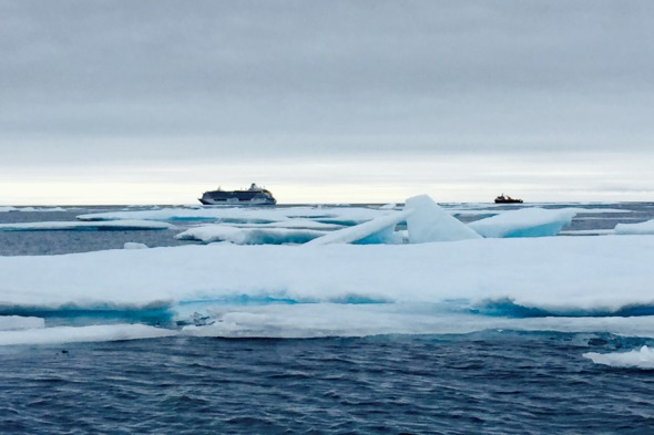 Crystal Serenity transiting the Northwest Passage