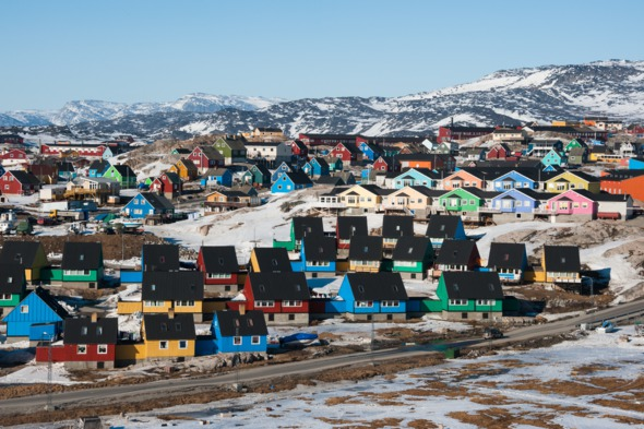 Houses in Ilulissat, Greenland