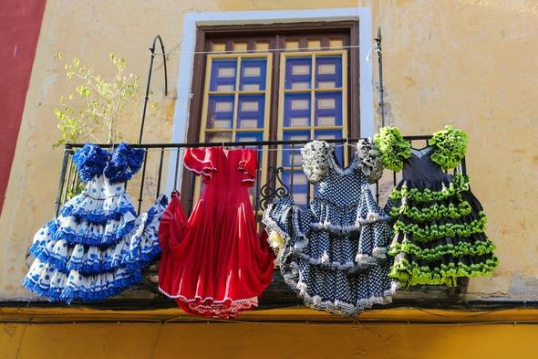 Flamenco dresses in Málaga, Spain