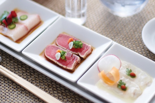 Crystal Cruises - Sushi trio by Nobu