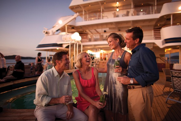 Socialising on board SeaDream Yacht Club