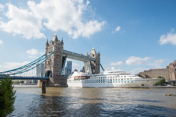 Windstar Cruises - Star Legend at London Tower Bridge