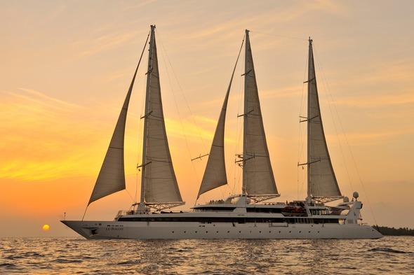Ponant Cruises - Le Ponant in the Maldives