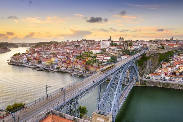 Bridge over the Douro in Porto, Portugal