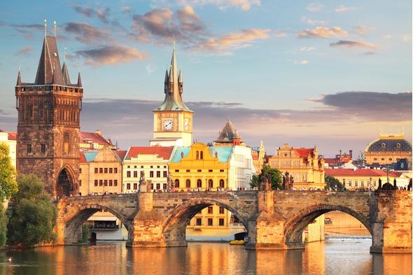 Charles Bridge in Prague, Czech Republic