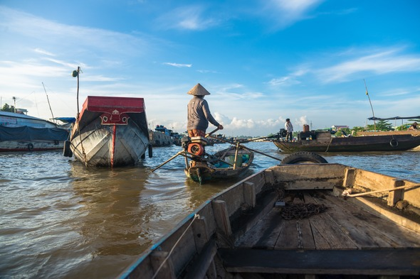 Can Tho on the Mekong Delta, Vietnam