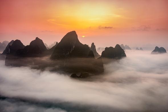 Karst mountains near Guilin, China