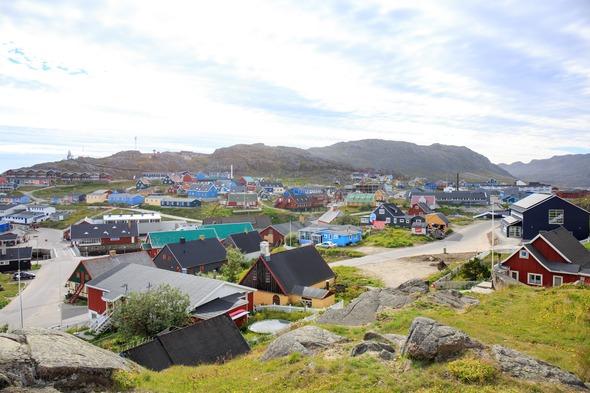 Houses in Qaqortoq, Greenland