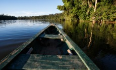 Boat on the Amazon near Manaus