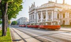 Tram in Vienna, Austria