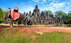 Elephant rider at Angkor