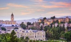 Málaga city skyline