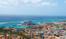Aerial view of Oranjestad