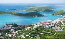 Aerial view of Charlotte Amalie, St Thomas