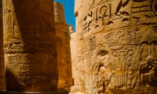 Hieroglyphics at Luxor, Egypt