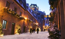 Québec City in winter