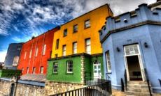Colourful buildings at Dublin Castle